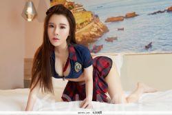 尤美清凉女神爱丽莎乳房摄影制服图片