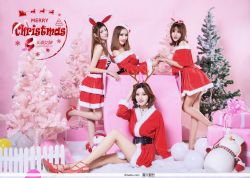 美丽的七位女神,祝福大家Y18.圣诞节快乐!图片